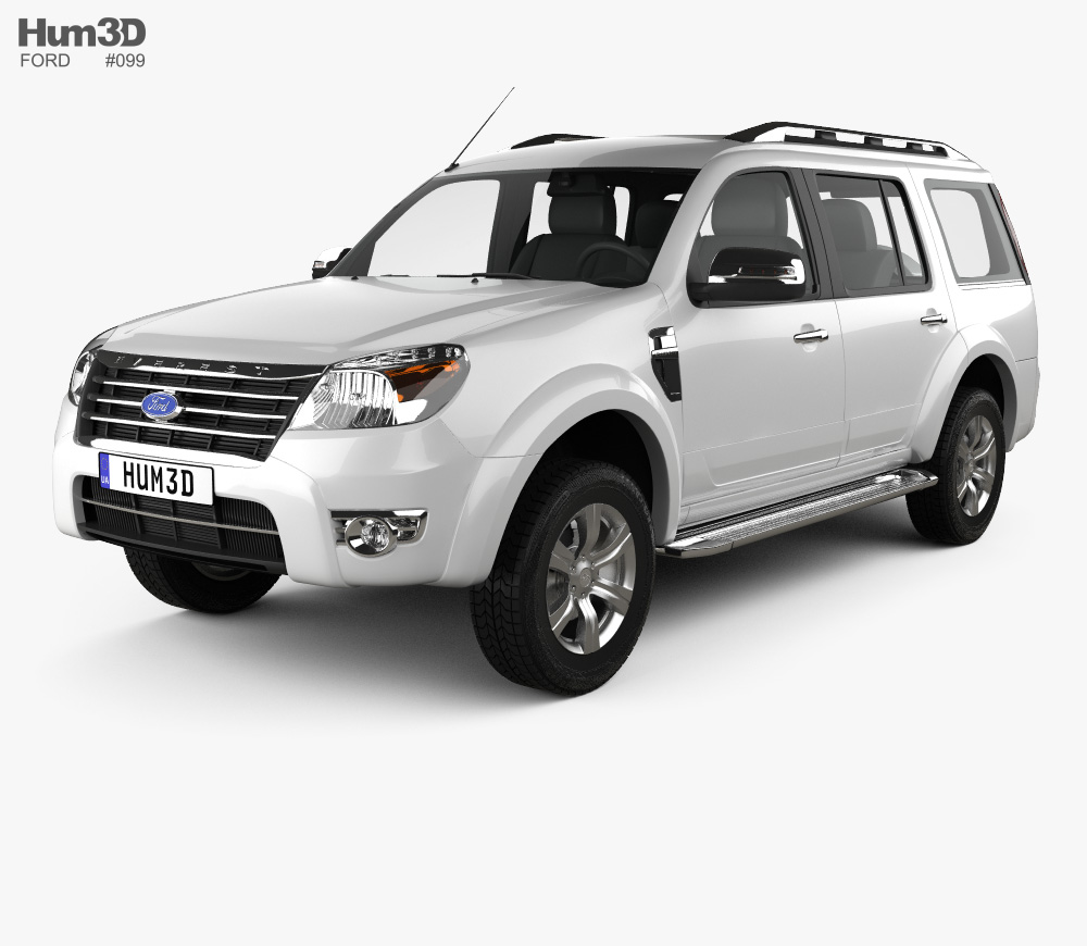 Ford Everest 2012 3D model.
