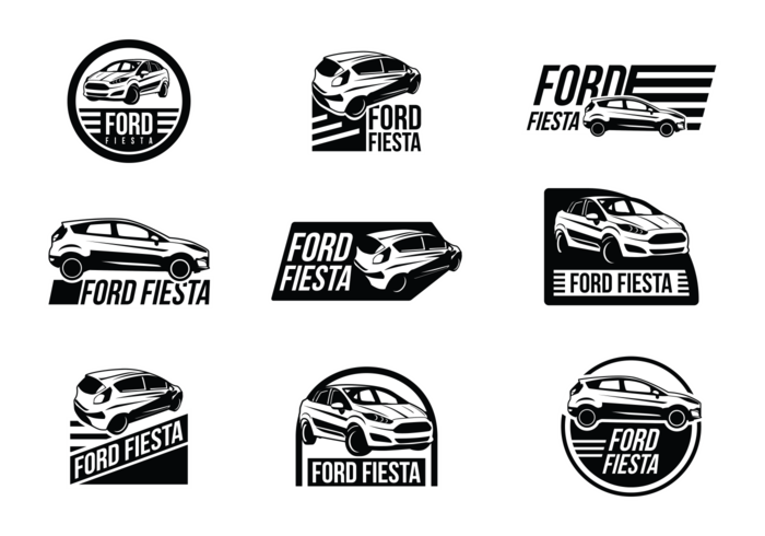 Ford Fiesta Vector Labels.