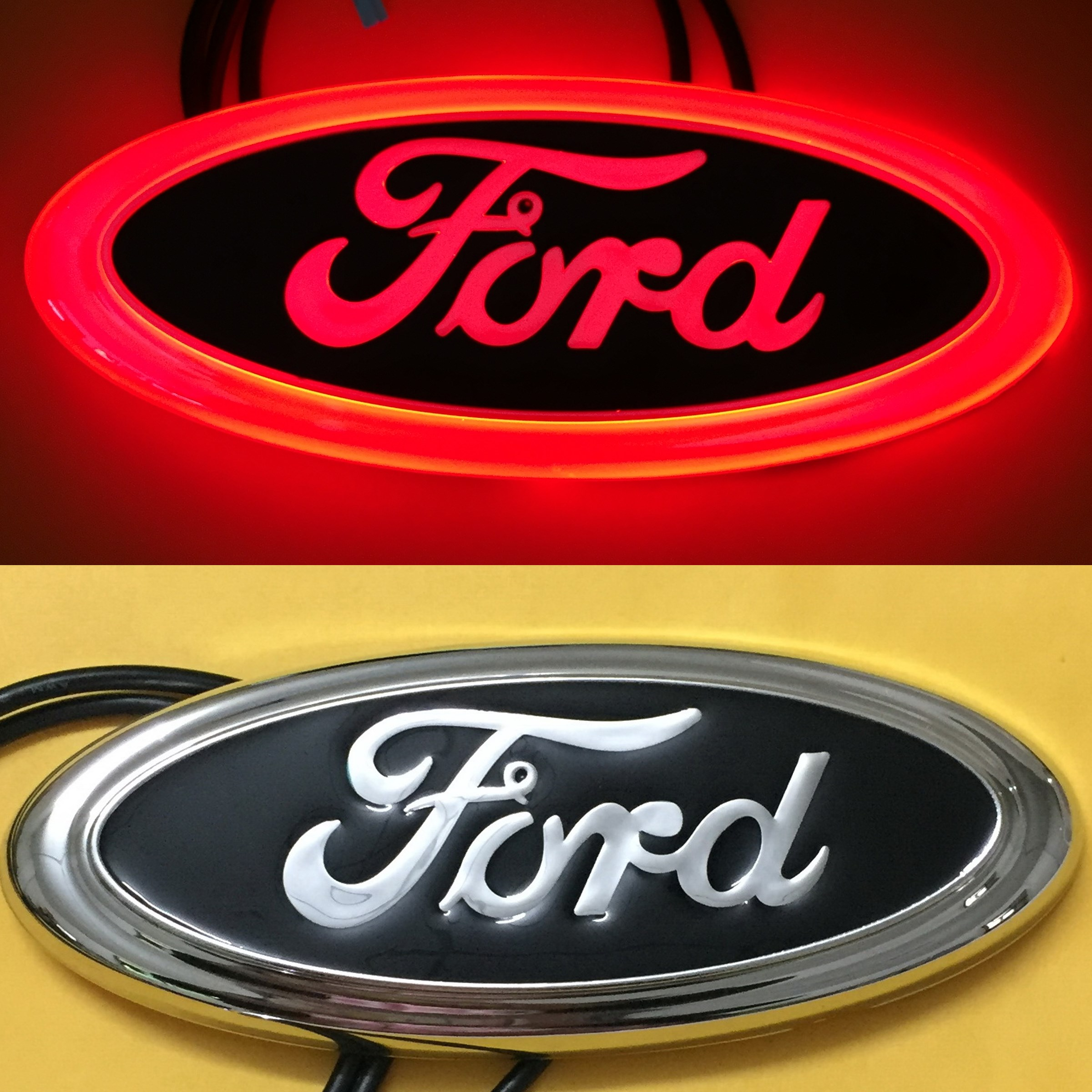 Details about 4D LED Car Tail Logo Red Light for Ford Focus Mondeo Kuga  Auto Badge Light.