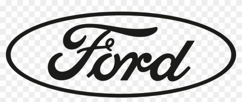 Black and White Ford Logo.