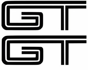 Details about 2X Ford Mustang GT Logo 4\