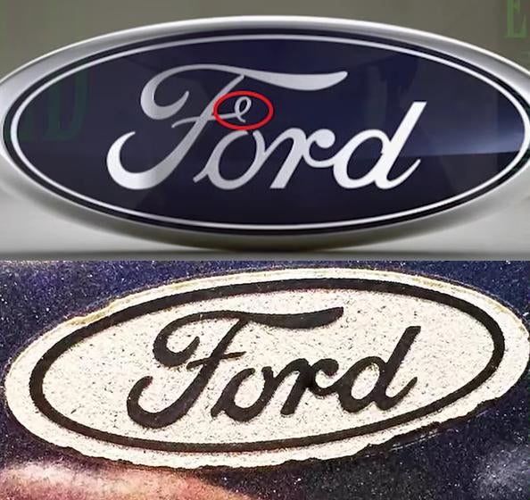 Ford logo residues.
