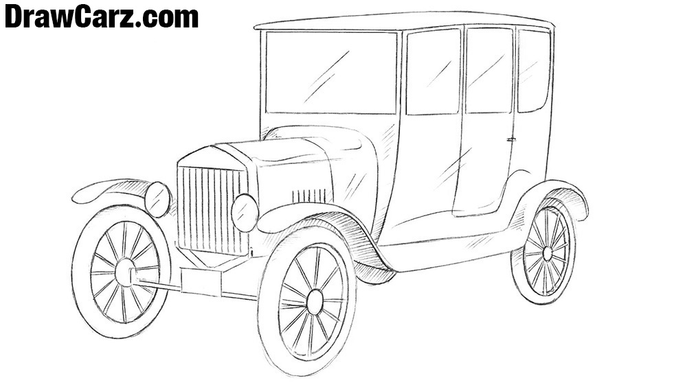 How to Draw a Ford Model T.