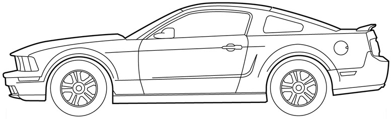 Ford mustang gt hd clipart.