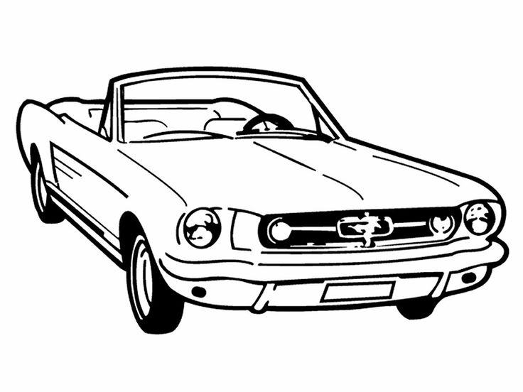 Vintage Mustang Car Clipart.