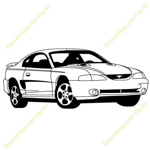 ford mustang clipart