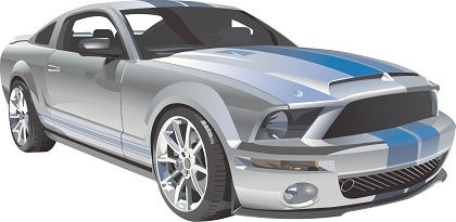 Ford mustang clip art.