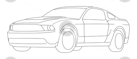 Mustang cars clipart.