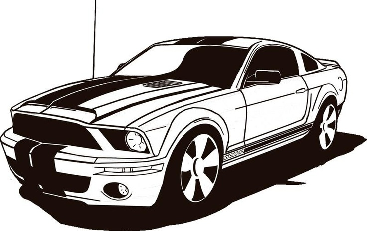 Ford mustang clipart.