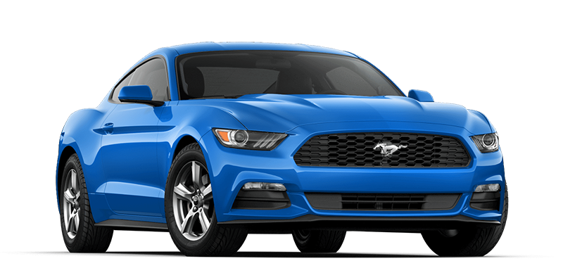 Blue Ford Mustang PNG Photos.