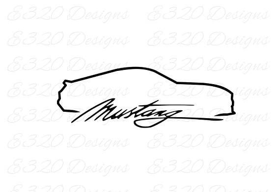 Ford Mustang Logo Drawing at PaintingValley.com.