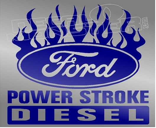Ford Powerstroke Diesel Edition 8 Decal Sticker DM.