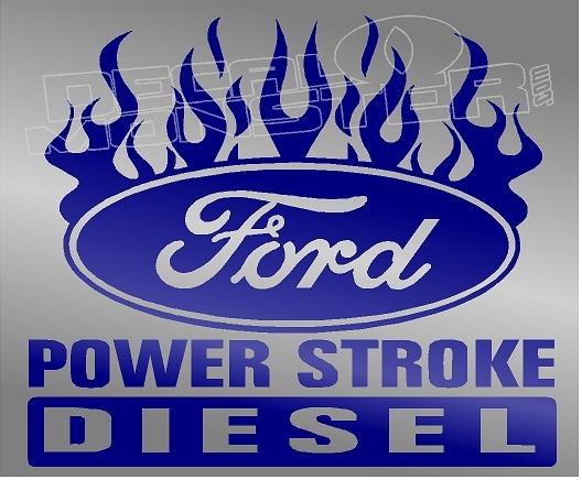 Ford Powerstroke Diesel Edition 8 Decal Sticker DM.