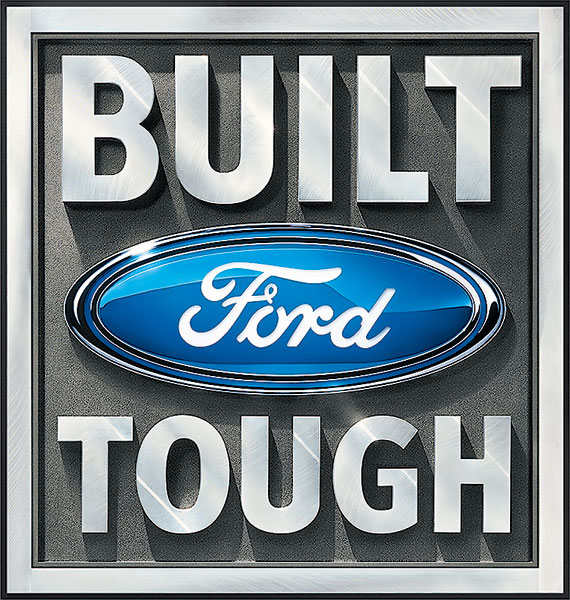 Built ford tough Logos.