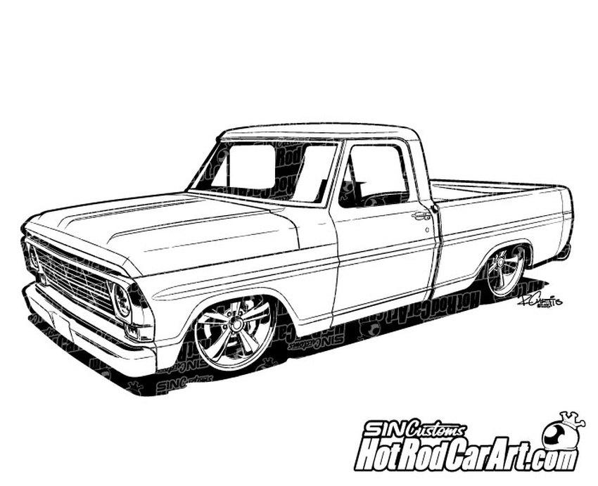 1969 Ford F100 Pickup Truck.