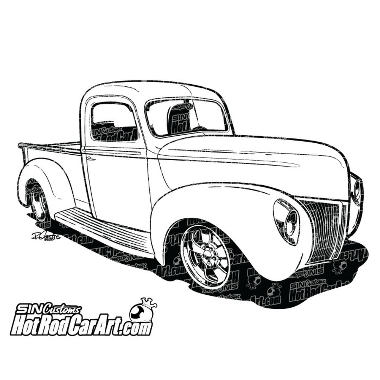1940 Ford Pickup Truck.