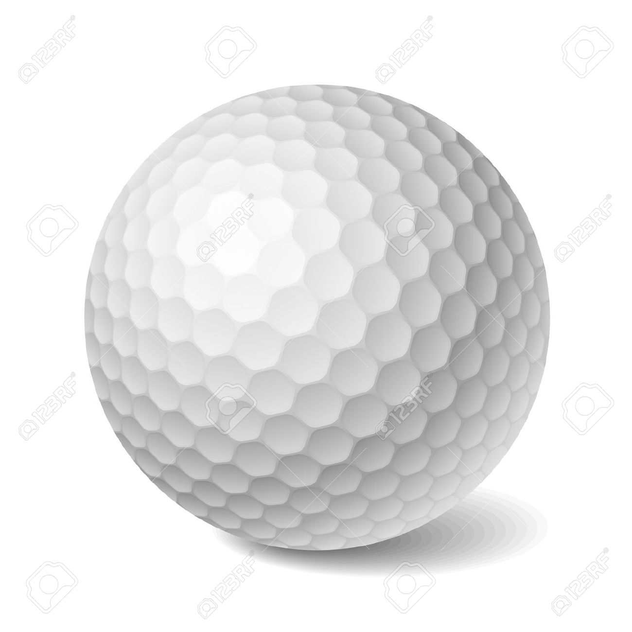 Golf Ball Transparent Background Clipart.