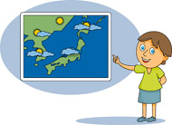 Weather map clipart.