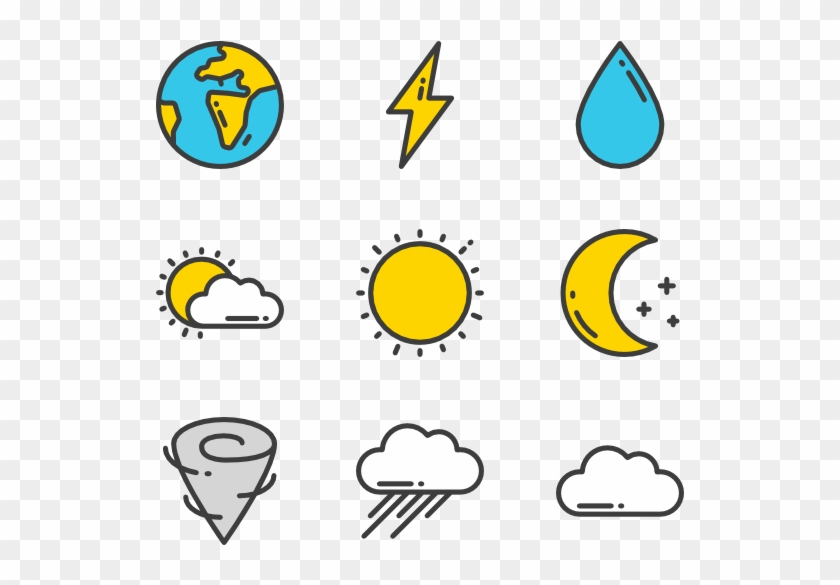 Weather Weather Forecast, Icon Font, Icon Pack, Vector.