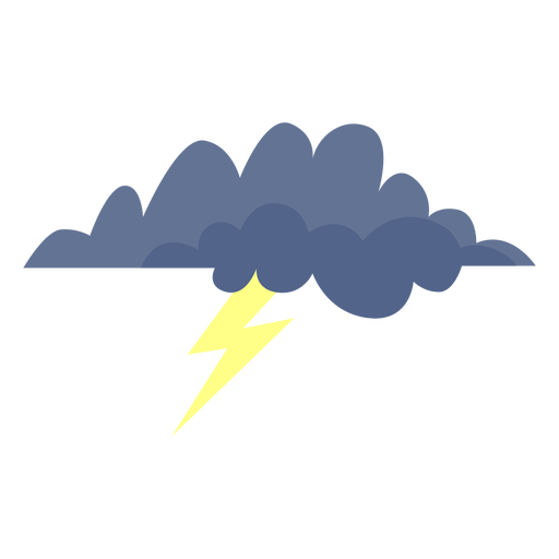 Storm cloud forecast icon.