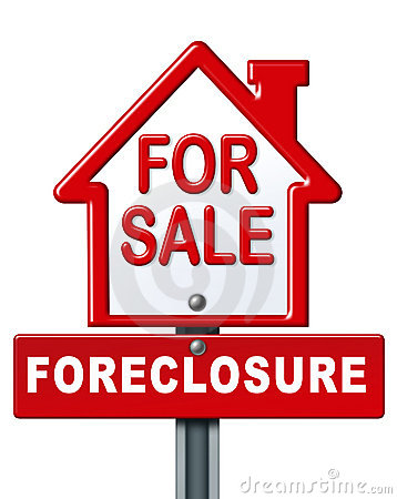 Home Foreclosed Sign Stock Photography.