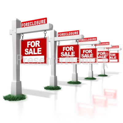 Multiple Real Estate Foreclosure Signs i.