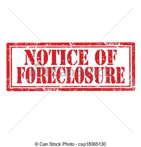 Vectors of Notice Of Foreclosure.