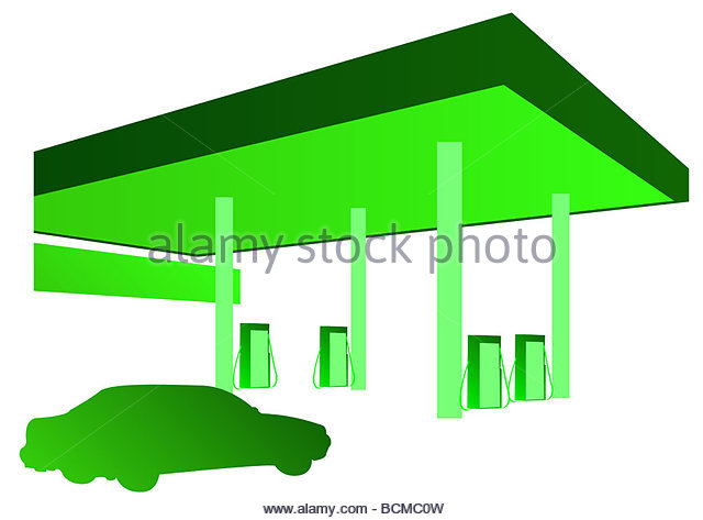 Forecourt Cut Out Stock Images & Pictures.