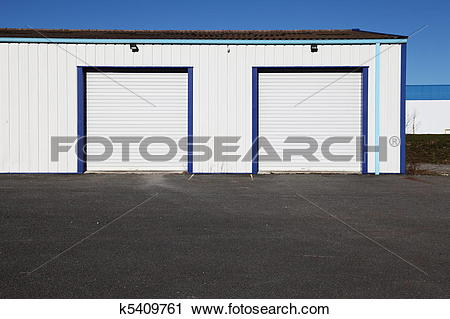 Stock Photography of Industrial Garages Tarmac Forecourt k5409761.