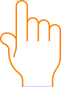 Pointer Finger Clip Art.