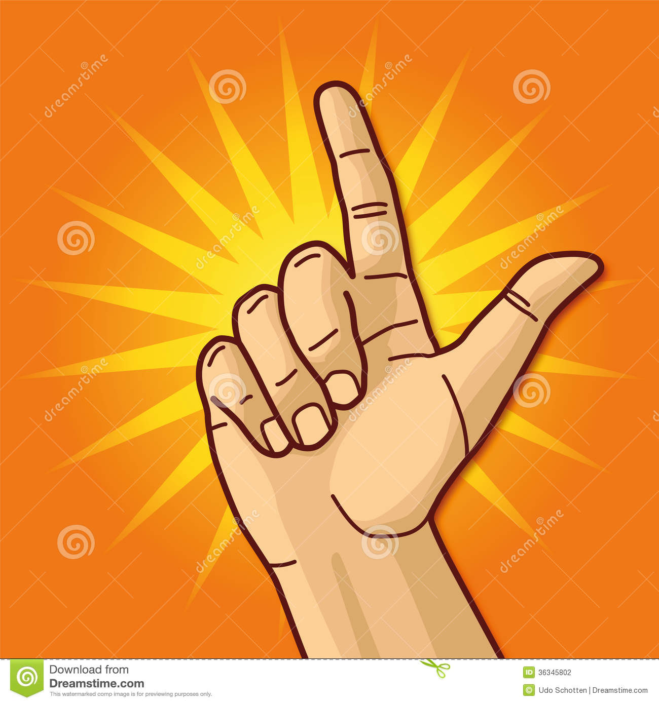 Hand And Forefinger Stock Photography.