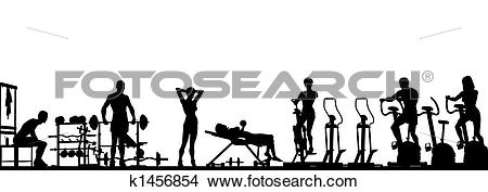 Clipart of Gym foreground k1456854.