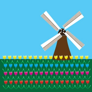 Windmill Clipart Image.