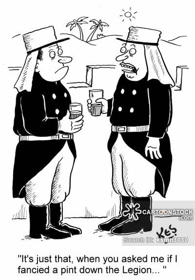 Foreign Legion Cartoons and Comics.
