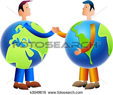 Stock Illustration of world trade k0180807.