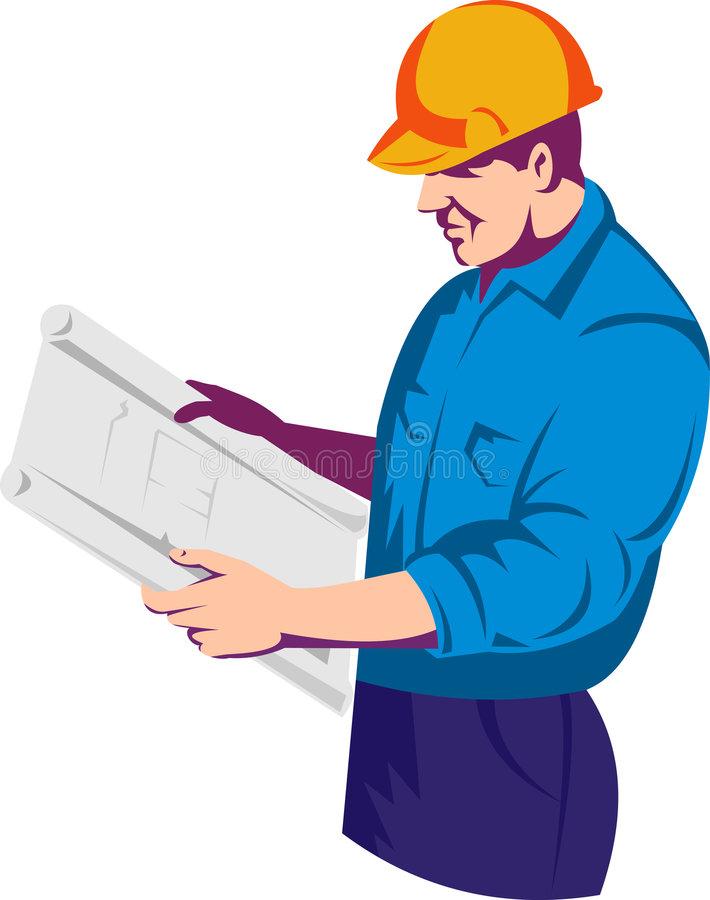 Construction Foreman Stock Illustrations.