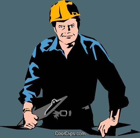 Construction foreman Royalty Free Vector Clip Art illustration.