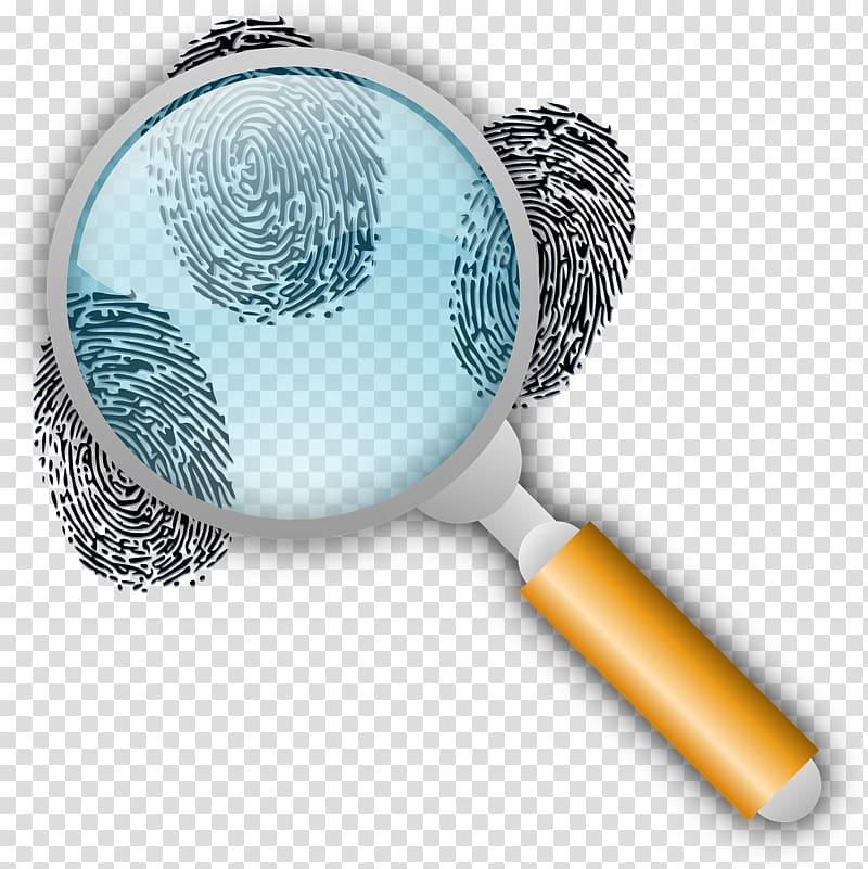 Fingerprint Magnifying glass Forensic science , loupe transparent.