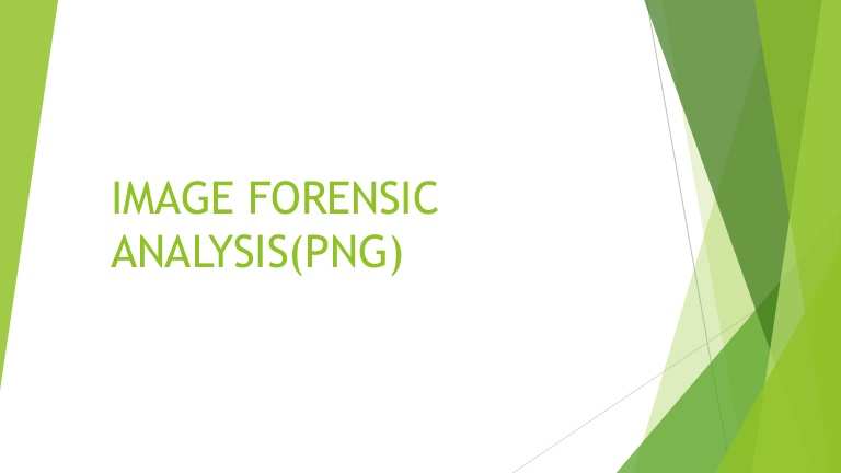 Image (PNG) Forensic Analysis.