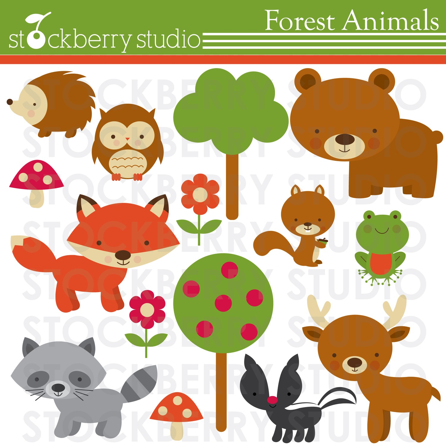 Baby Forest Animals Clipart.