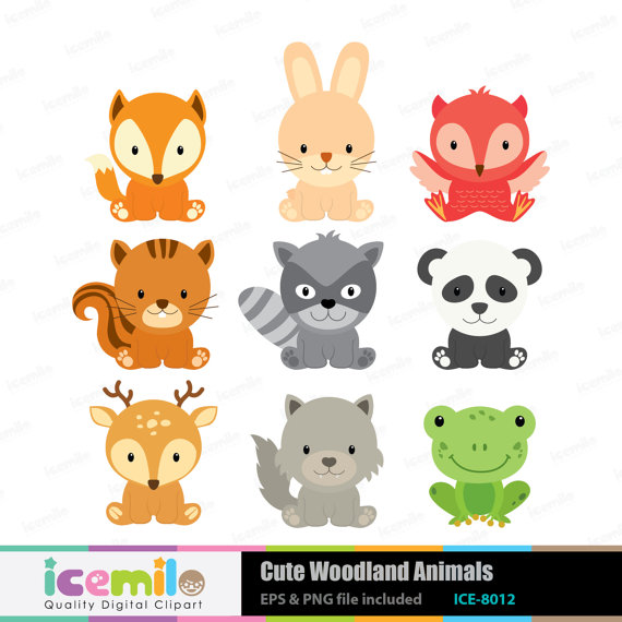 Baby forest animal clipart.