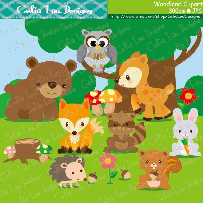 Woodland Animals Clip Art Woodland Clipart Forest Animal.