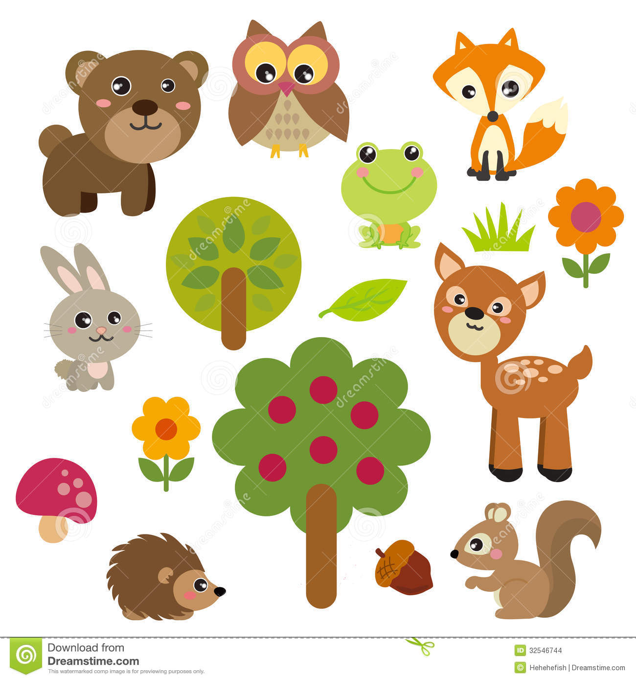 Forest Animal Clipart.