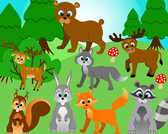 Free Forest Animal Cliparts, Download Free Clip Art, Free Clip Art.