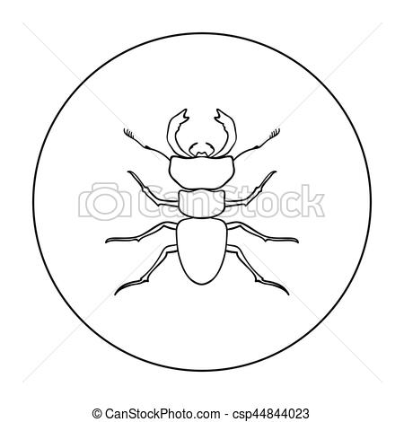 Vector Illustration of Forest red ant icon in outline style.