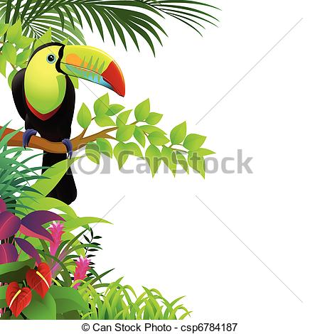 Clip Art Rainforest Birds Clipart.