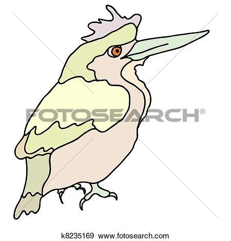 Clip Art of A small forest bird k8235169.