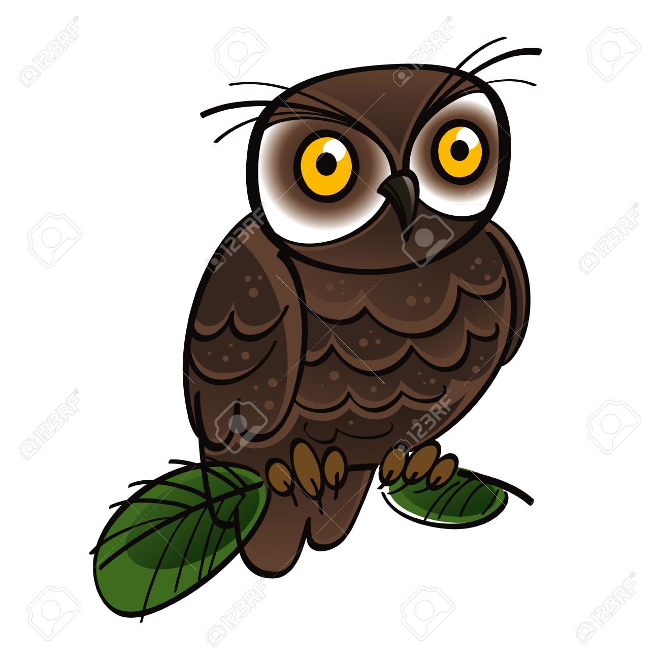 Free forest owl clipart.