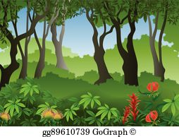 Forest Background Clip Art.