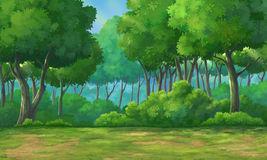 Background Forest Daytime Stock Illustrations.